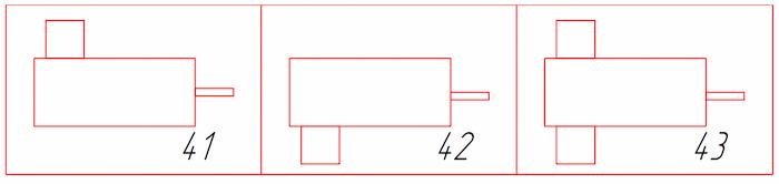 Варианты сборки редукторов типа КЦ2